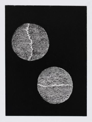 I en och samma punkt, kol blyerts, 30x40 cm